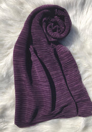 Pleated Shawl - Grape