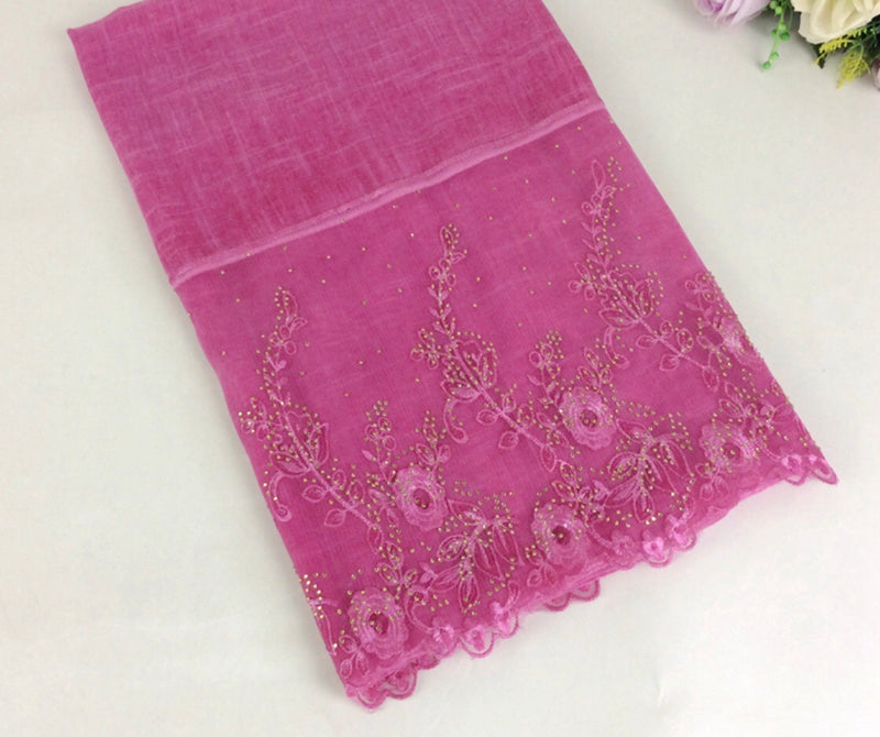 Floral Half Lace Shawl - Light Pink