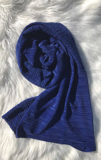 Pleated Shawl - Royal Blue