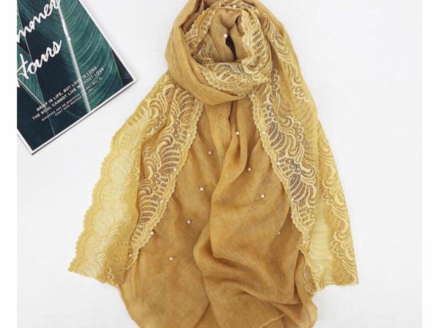 Cotton Lace Edge - Mustard