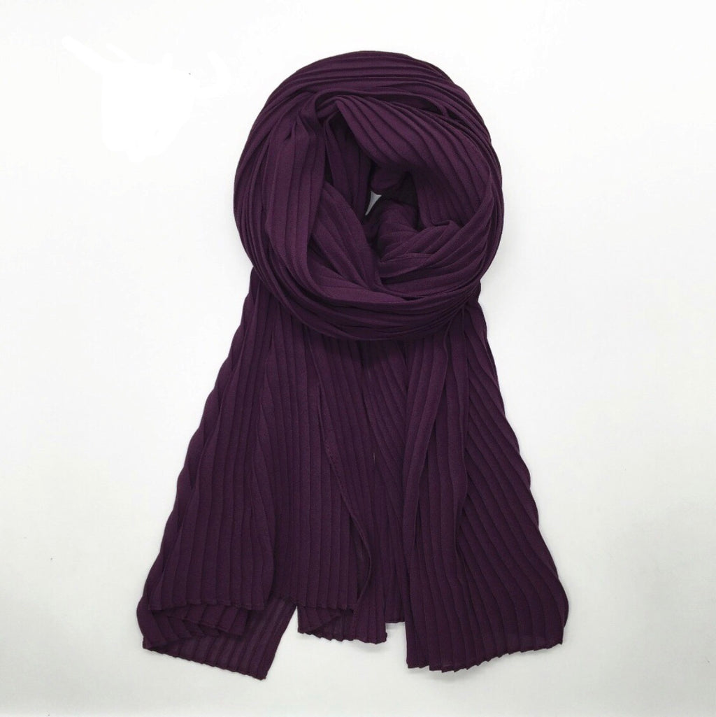 Pleated Chiffon - Grape