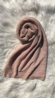 Pleated Shawl - Nude