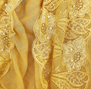 Cotton Lace Edge - Yellow