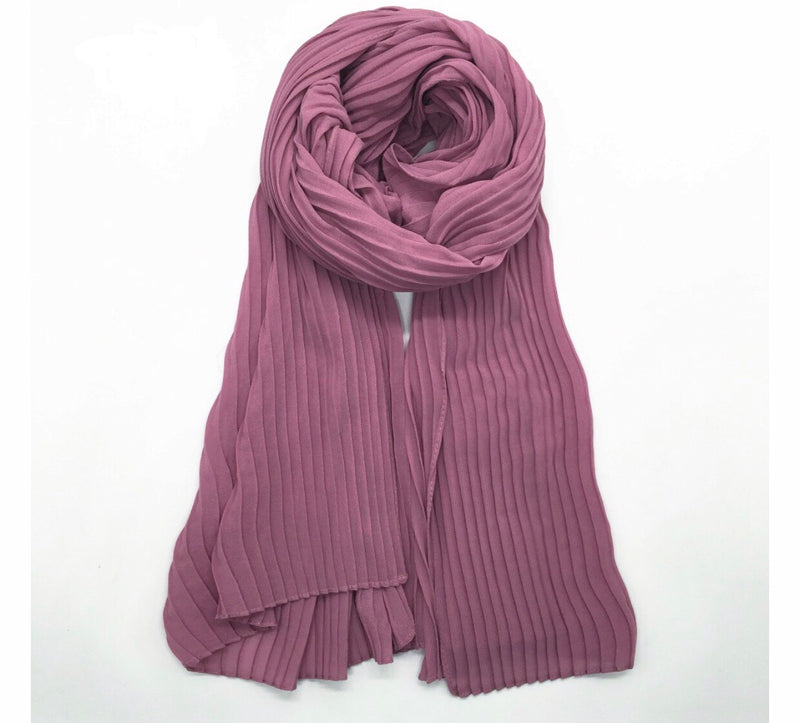 Pleated Chiffon - Skin Purple