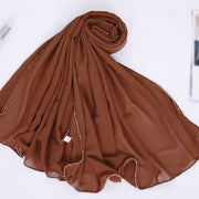 Chain Chiffon Shawl - Dusty Orange