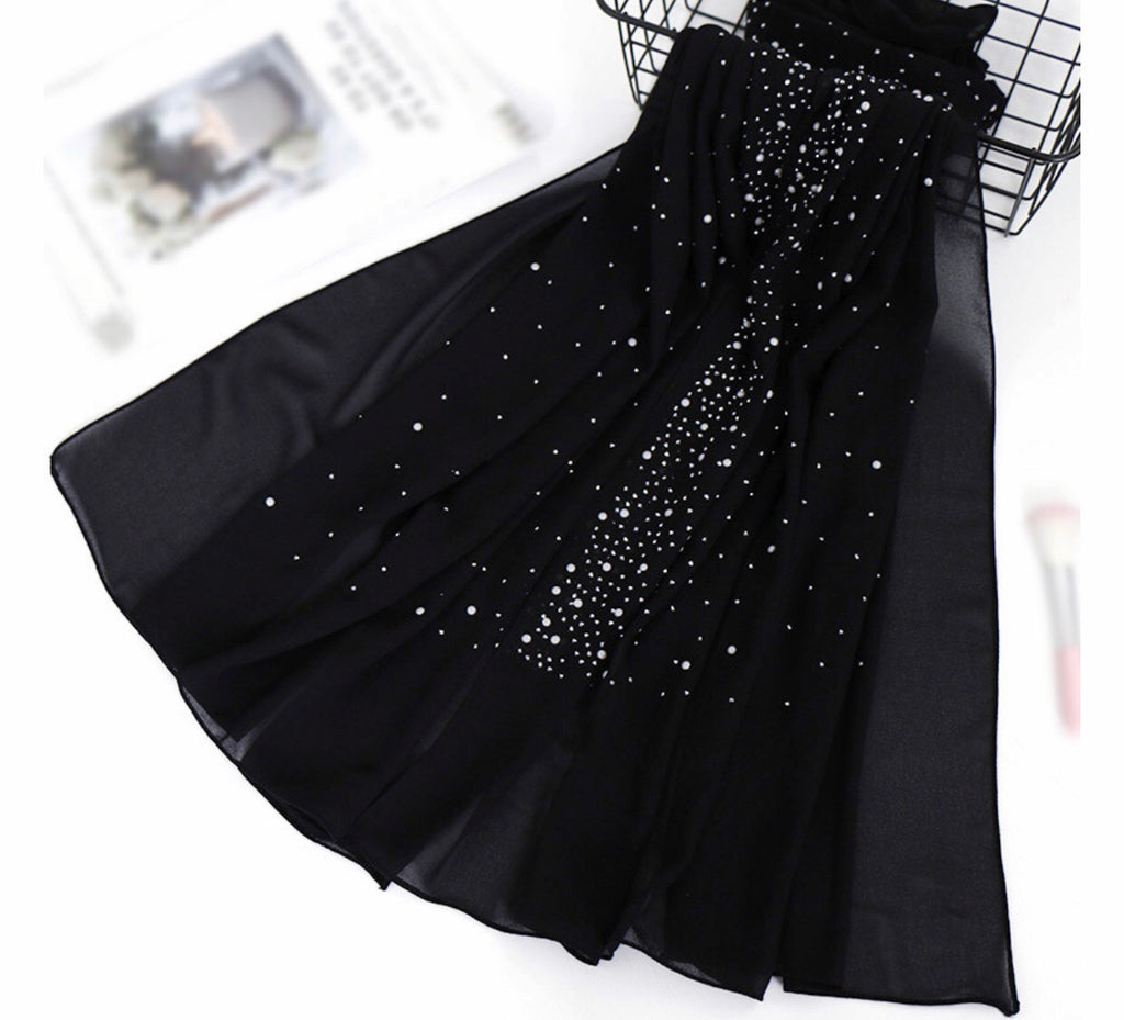 Diamond Chiffon - Black