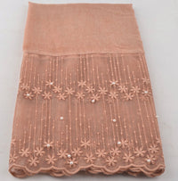 Cotton Lace Shawl - Light Orange
