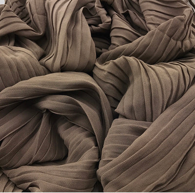 Pleated Chiffon - Light brown