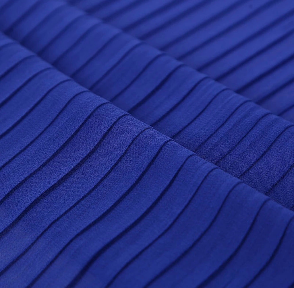 Pleated Chiffon - Royal Blue