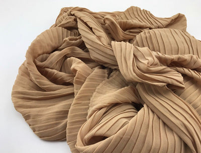 Pleated Chiffon - Nude