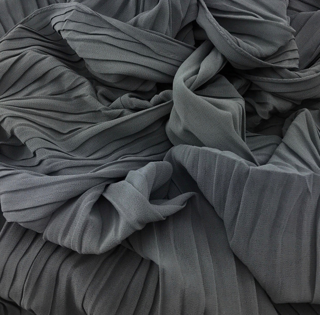 Pleated chiffon - Grey