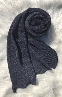 Pleated Shawl - Dark Grey