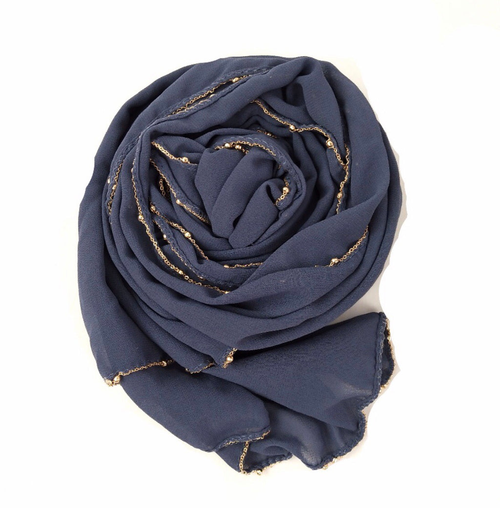 Chain Chiffon Shawl - Anchor