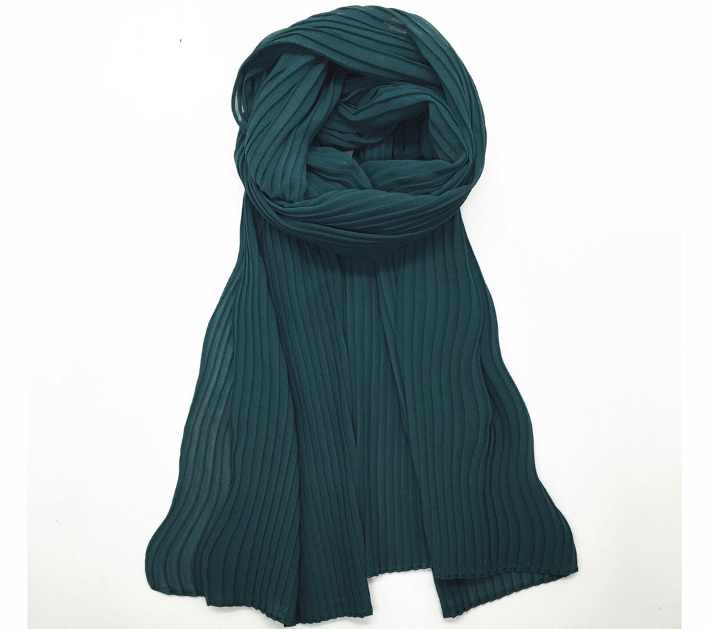 Pleated Chiffon - Teal