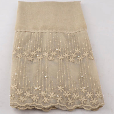Cotton Lace Shawl - Cream