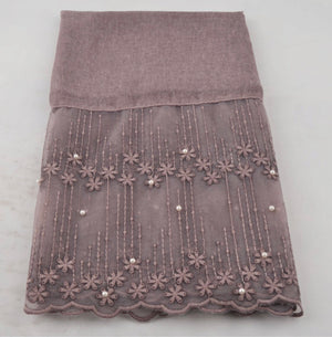 Cotton Lace Shawl - Mauve