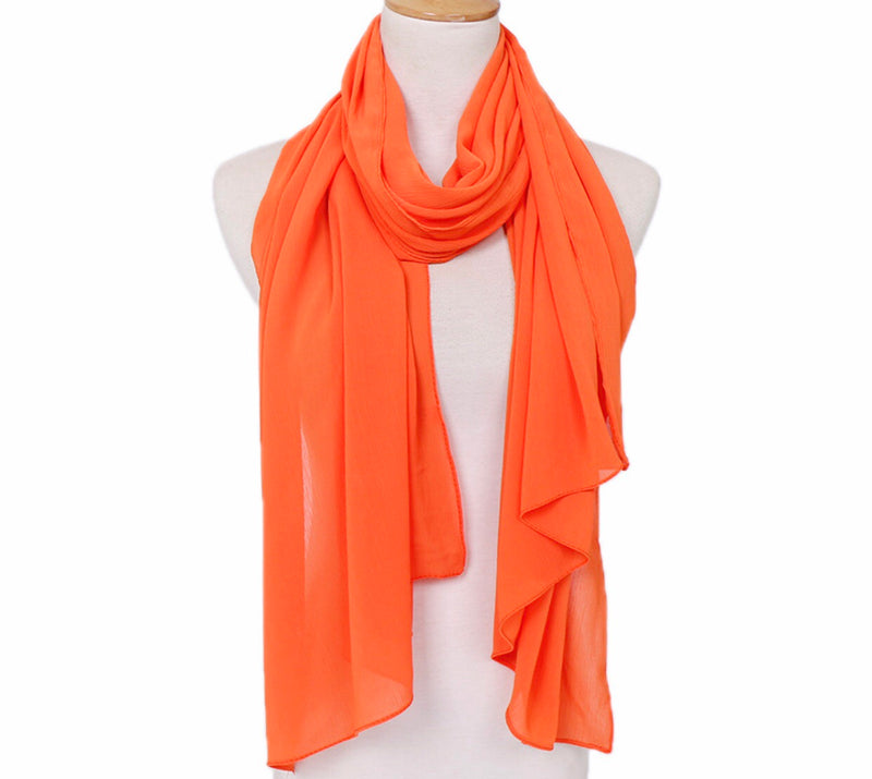 Crinkle Chiffon - Bright Orange