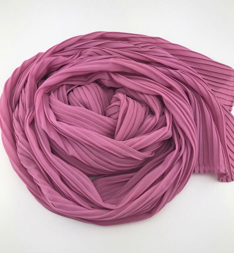 Pleated Chiffon - Pink