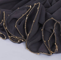 Chain Chiffon Shawl- Dark Grey