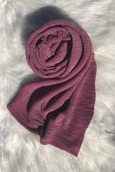 Pleated Shawl - Dusty Rose