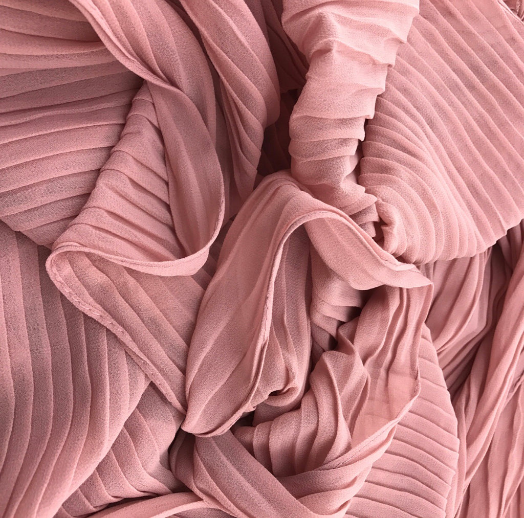 Pleated Chiffon - Skin Pink