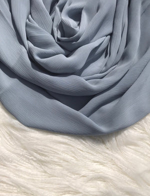 Wrinkle Chiffon - Blue Grey