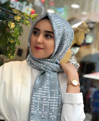 Glimmer Shawl - Light blue