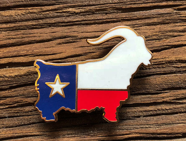 National Goat of Texas Pin