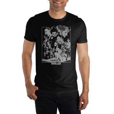 HxH Hunter x Hunter Association Manga Character Men's Black T-Shirt