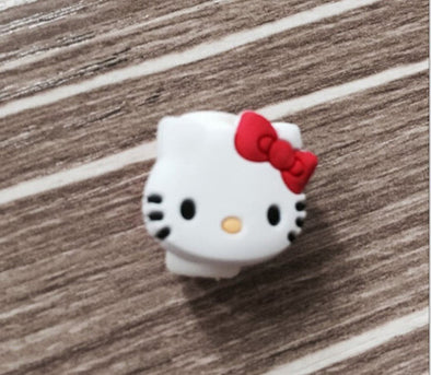 USB cable Earphones Protector colorful hello kitty Cover For iphone android cable Data Line Protection sleeve