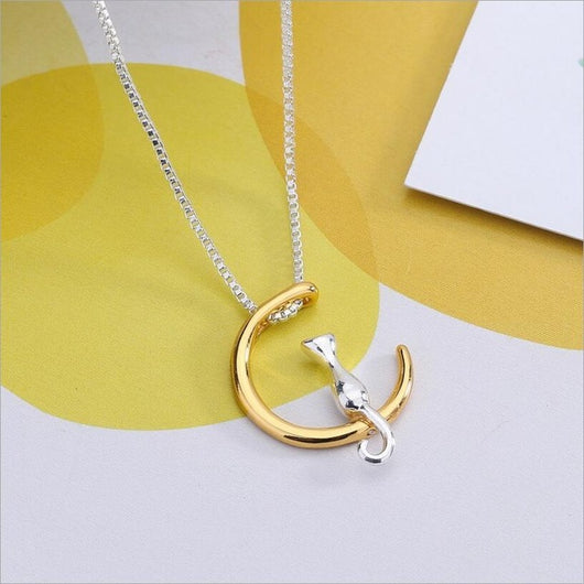 Crescent Moon Cat Summer Necklaces & Pendant