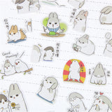 40 Pcs New Kawaii Chubby Rabbit Series Pet Sticker Pack