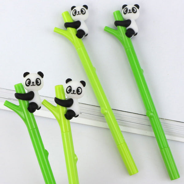 2 pcs/lot Green bamboo panda gel pen