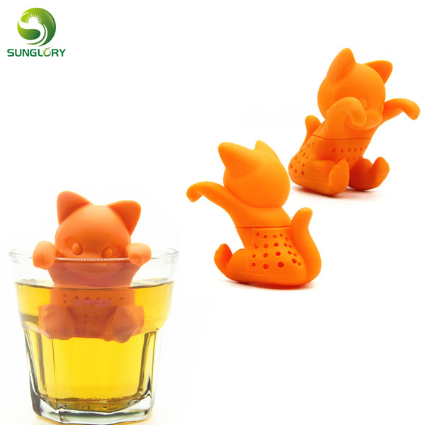Cute Silicone Cat Tea Infuser Tea Filter Diffuser Reusable Tea Strainer