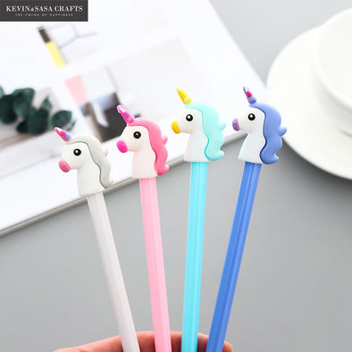 4Pcs/Set Gel Pen Unicorn Pen