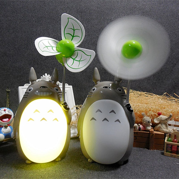 Kawaii Totoro Fan Lamp Led Night