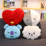 Bangtan Boys BTS Pillow Warm Bolster Cushion Cute Plush Doll Korean KOYA TATA COOKY CHIMMY VAN SHOOKY RJ MANG