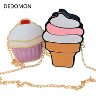 New Cute Cartoon Women Ice Cream Cupcake Mini Bags