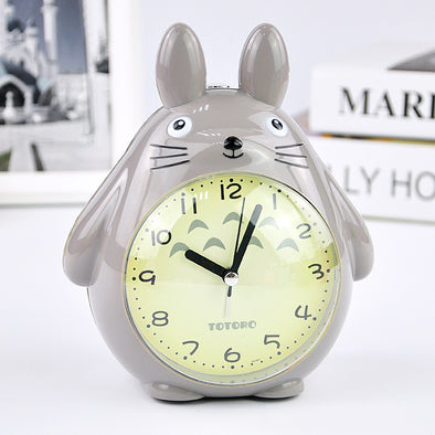 Creative children Wake up alarm clock Totoro Bedside quiet night light