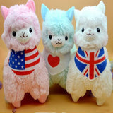 45cm Adorable Wearing Flags Alpaca Plush