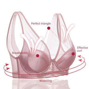 Air Permeable Gauze Thin Cups Shaping Sexy Bra