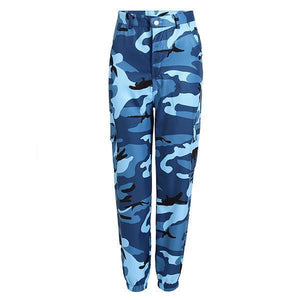 Casual Loose Side-pocket Denim Camouflage Cargo Pants