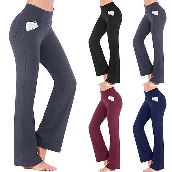 Stretchy Soft Eco-friendly Bamboo Pockets Flare Yoga Pants