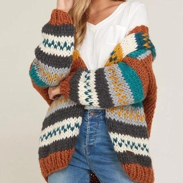 Fashion Vintage Loose Knit Coat