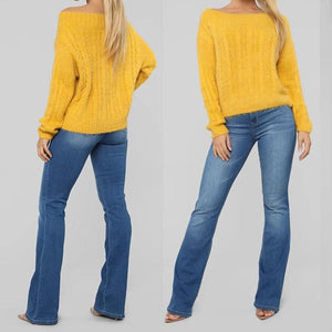 70s High Rise Stretch Casual Boot-cut Jeans
