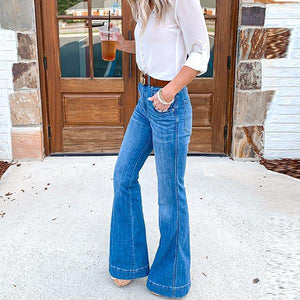 High Waist Bell Bottom Jeans
