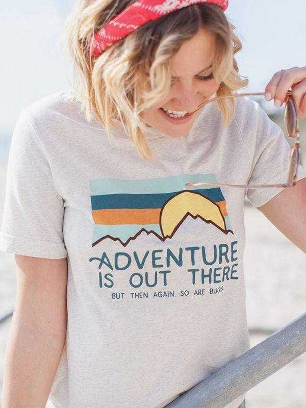 wiccous.com T-Shirts White&Grey / S Adventure Is Out There Tee