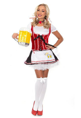 Premium Ladies German Oktoberfest Beer Maid Halloween Fancy Dress