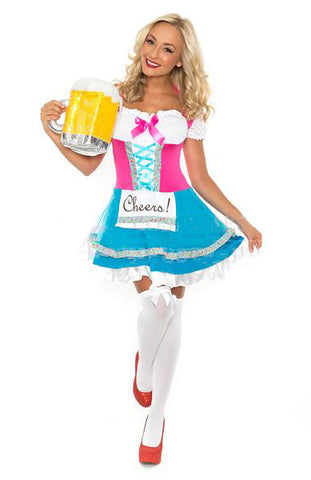 Premium Ladies Maid Fancy Dress Costume