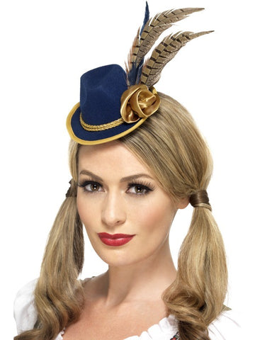 Premium Adult Ladies Authentic Bavarian Oktoberfest Mini Hat Oktoberfest Smiffys Fancy Dress Accessories